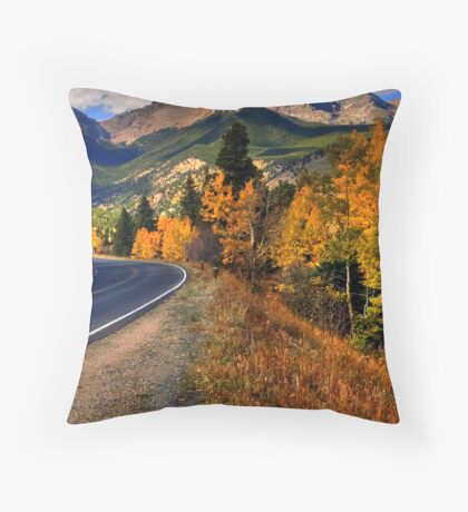 The Roads of Autumn Throw Pillow