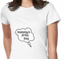 Pregnancy Message from Baby - Mummy's Little Boy by Bubble-Tees.com Womens Fitted T-Shirt