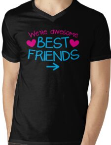 We're AWESOME best friends with an arrow right Mens V-Neck T-Shirt