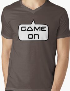 Game On by Bubble-Tees.com Mens V-Neck T-Shirt