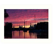 Of Yachts and Skylines Art Print