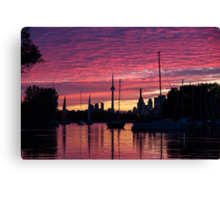 Of Yachts and Skylines Canvas Print
