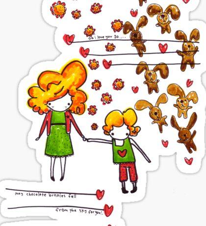 Chocolate Bunnies Sticker
