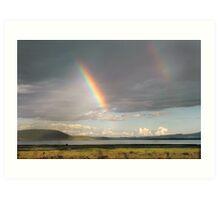Lake Nakuru rainbow Art Print