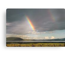 Lake Nakuru rainbow Canvas Print