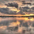 Sunset In Silver by Nancy Richard