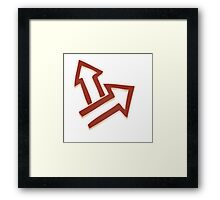 Glitch Quest quest symbol red lem 01a treehousequest1 Framed Print