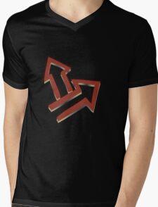 Glitch Quest quest symbol red lem 01a treehousequest1 Mens V-Neck T-Shirt