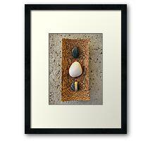 Zen Pebbles Framed Print