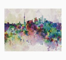 Shanghai skyline in watercolor background Kids Clothes