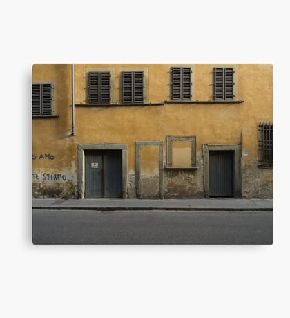 Florence streetscape Canvas Print
