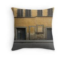 Florence streetscape Throw Pillow