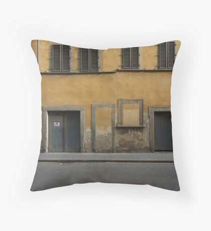 Florence streetscape Throw Pillow