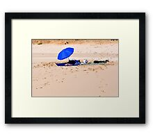 Blue picnic  Framed Print