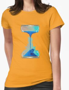 Dr who clock Womens Fitted T-Shirt