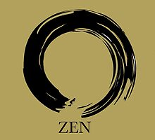 7 DAY'S OF SUMMER-YOGA ZEN RANGE- GOLD ENSO by 7 days of Summer