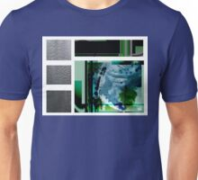 Jade contemporary minimalist abstract green black blue white square Unisex T-Shirt