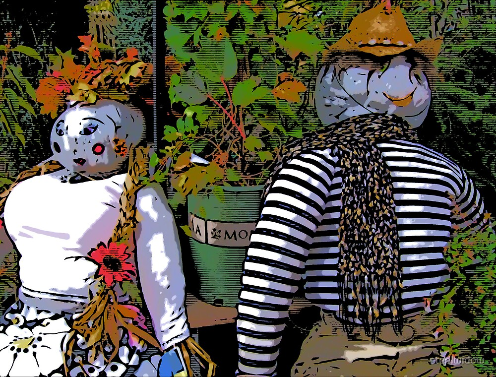 Comic Abstract Scarecrows by steelwidow
