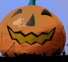 Comic Abstract Halloween Jack-O-Lantern by steelwidow