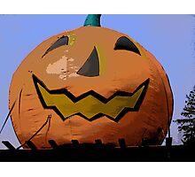 Comic Abstract Halloween Jack-O-Lantern Photographic Print