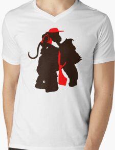 DK and Diddy (large print) Mens V-Neck T-Shirt