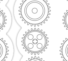 Cog Gear Wheels Pattern Sticker