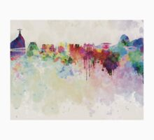 Rio de Janeiro skyline in watercolor background Kids Clothes