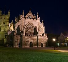 Exeter Cathedral at night by Darren Newbery