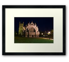 Exeter Cathedral at night Framed Print