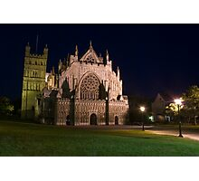 Exeter Cathedral at night Photographic Print