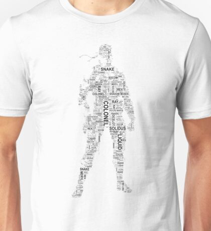 Metal Gear Solid - Solid Snake - Typography Unisex T-Shirt