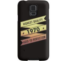 Highest Quality 1970 Aged To Perfection Samsung Galaxy Case/Skin