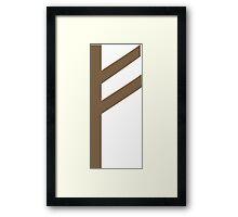 Rune Fehu - luck, prosperity & personal power Framed Print