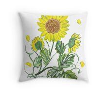 Rosie's Sunflowers Throw Pillow