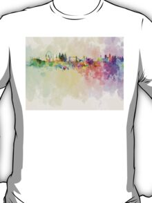 London skyline in watercolor background T-Shirt