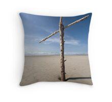 Salvation at the beach Throw Pillow