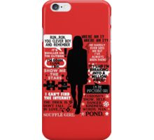 Doctor Who - Clara (Oswin) Oswald Quotes iPhone Case/Skin