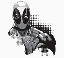 deadpool in black and white T-Shirt