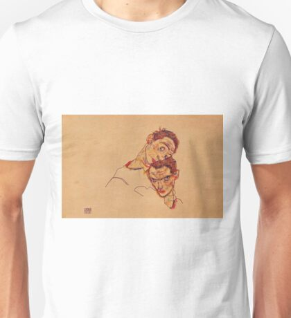 Egon Schiele - Double Self Portrait 1915 Unisex T-Shirt