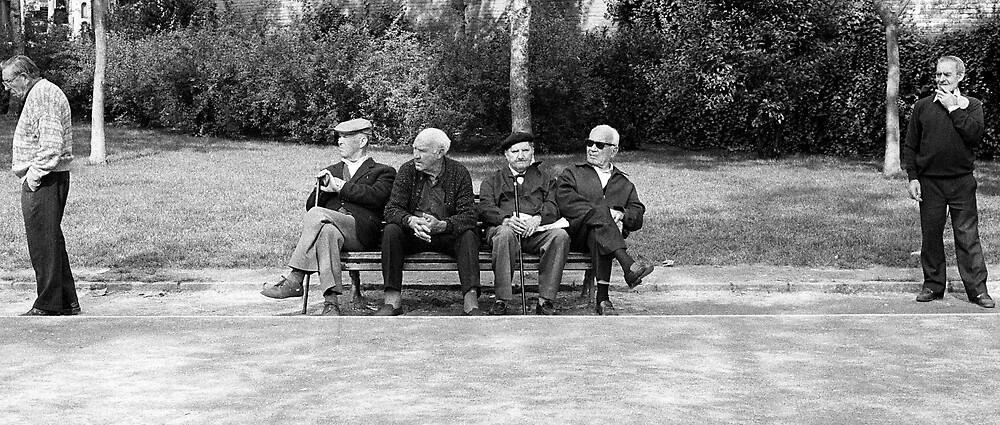 Old Men - Barcelona, Spain by Biscuitboss
