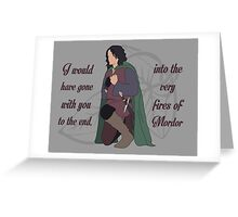 Into the Very Fires of Mordor Greeting Card