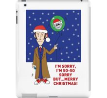 A Tenth Doctor Who themed Xmas Card 2 iPad Case/Skin