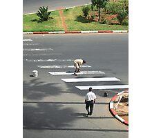 White Lines - Cassablanca, Morocco Photographic Print