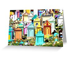 A colourful way to go Greeting Card