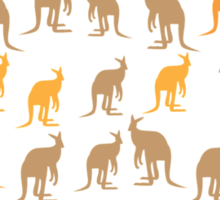 Meanwhile in AUSTRALIA with many kangaroos Sticker