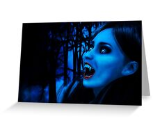 Night of vampires 2 Greeting Card