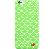 Fish scales green iPhone Case/Skin