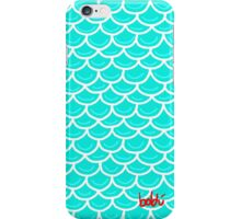 Fish scales turquoise iPhone Case/Skin