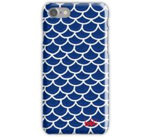 Fish scales blue iPhone Case/Skin