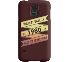 Highest Quality 1980 Aged To Perfection Samsung Galaxy Case/Skin